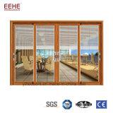 I portelli scorrevoli di alluminio del rivestimento di legno del grano facili puliscono per l'interiore della Camera
