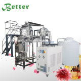 La extracción de aceite esencial de destilación con vapor