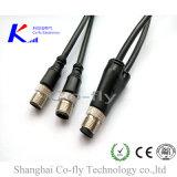 Водоустойчивый кабель штепсельной вилки M12 Pin Splitter 4 разъема y датчика