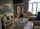 Новая классицистическая королевская софа ткани типа для домашней мебели (168-5)