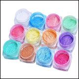 Las uñas de acrílico color pigmento colorante en polvo de inmersión
