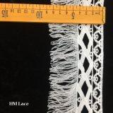 tissu d'oeillet de garnitures de lacet de 8.5cm Venise pour l'approvisionnement blanc annexe de métier de vêtement avec les baisses et les glands Hmhb1142 de perle