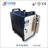 Uso Oxy-Hydrogen do gerador dos materiais suportáveis na soldadura