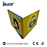 4,3 inches of TFT screen LCD video Greeting Cards, video Cards Bulk with Factory Price