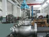 Engrenagem de aço carbono fundido operada válvula globo