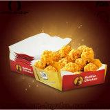 Bandeja de papel disponible del alimento para el pollo frito