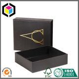 Estilo da gaveta do logotipo do ouro que desliza a caixa de jóia de papel do presente do cartão