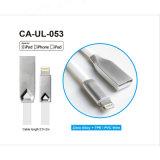 Ifm fabricant certifié coque en aluminium de haute qualité des nouilles de forme plate du câble de la foudre pour iPhone X/8 /8 Plus/7/7 Plus
