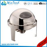 Le buffet du restaurant ronde de l'équipement le frottement des plats en acier inoxydable pour la nourriture plus chaude