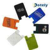 Titular de tarjeta de teléfono móvil de silicona Celular adhesiva funda de la tarjeta de crédito