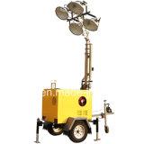 4X1000W金属のハロゲン化物または4X300W LEDのトラックのトレーラーの照明タワー