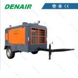 compressor de ar móvel Diesel de 7bar 185cfm para a venda