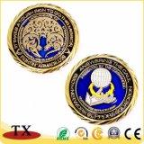 Moneta su ordinazione del metallo per il distintivo impresso rotondo caldo della vernice dello smalto