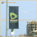 Alberino dell'indicatore luminoso di via parteggiata del doppio che fa pubblicità all'unità della bandierina (BS24)
