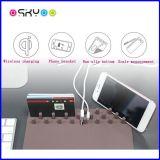 Cargador de carga sin hilos elegante de múltiples funciones del teléfono de la pista de ratón de Qi