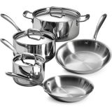 18/10 Stainless-Steel Tri-Ply Clad Ustensiles de cuisine Set (CX-SS0803)