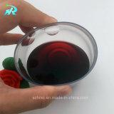 Vaso de acrílico de la curva del dedo del vino de 8 onzas, vidrio de vino disponible, flauta del vino