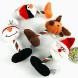 Giocattolo della peluche dell'animale domestico dei prodotti dell'animale domestico di natale per il cane ed il gatto