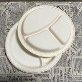 Biodégradable 10'' dîner à trois compartiments de la vaisselle de la plaque de papier