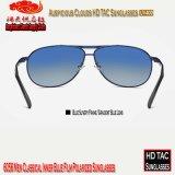 6056 óculos de sol polarizados dos homens película azul interna clássica