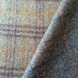 100 шерсть куртка Tweed ткань в английском стиле нанесите на
