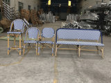 Les meubles de patio chaise de salle à manger en plein air en rotin synthétique
