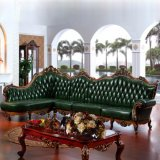 居間の家具(801)のための表が付いている木製の角のソファー
