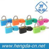 Cadenas de fer recouvert de plastique colorés avec des clés