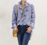 Новый цветочный поло женщины дамы футболки на заказ