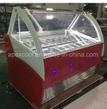 Gabinete do gelado/congelador personalizado o mais novo do indicador do Showcase do fabricante de gelado de Gelato