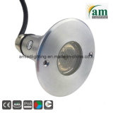 Protección IP68 3W Piscina RGB LED ilumina el LED de luz subacuática