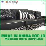 Lazer Hot-Sale Chesterfield sofá de couro italiano transversal definido