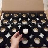 高い粘着力の黒の布のウェビングテープ黒の羊毛の絶縁体テープ