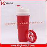 Plastikschüttel-apparatflasche des proteins 700ml mit Filter (KL-7020C)
