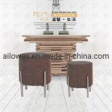 Móveis de metal assento de tecido de Aço Inoxidável Leg Mcdonald's Bar pé tamborete cadeira