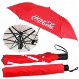 Ombrello di volta della pioggia forti 2 di alta qualità ed ombrello piegante manuale con il tessuto UV del rivestimento