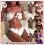 Les femmes de haute qualité vague Dot Bikini Sexy 2 pièces Polka Dots enveloppés de la poitrine Bikini vêtements de plage