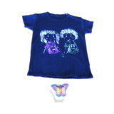 T-shirt comprimido em forma de borboleta (YT-769)