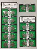 Батарея клетки кнопки батареи 1.5V Lr44 AG13 клетки монетки