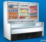 Refrigeração vertical primária e secundária de supermercado