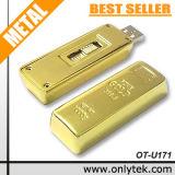 Disc istantaneo del USB del mattone dell'oro (OT-U171)