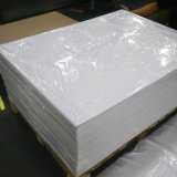 直接工場は家具のコーティングのための1mm曇らされた白く堅いPVCシートを供給する