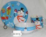280-1011A 사기그릇 컵 사발 격판덮개 크리스마스 디자인