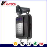 Telefone de emergência marítima Knsp impermeável-18 com altifalante e o Farol Rotativo