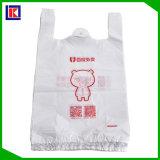 Sachet en plastique meilleur marché de T-shirt de sachet en plastique de transporteur de traitement de gilet des prix
