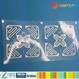 Tag da etiqueta adesiva da freqüência ultraelevada de Impinj Monza 4E H47 da função da freqüência ultraelevada 3D