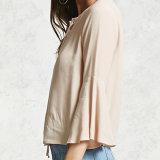 Дамы моды шифон порванный жгут для дожигания газа Втулки короткие блуза