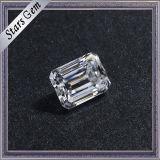 조회 가격 캐럿 7.5X5.5mm 명확한 백색 에메랄드 커트 Moissanite 다이아몬드