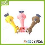 Het dierlijke Speelgoed van de Hond van het Latex van de Hals van de Vorm Lange Piepende Mooie, het Speelgoed van het Huisdier