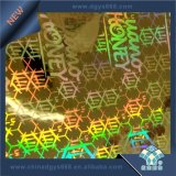 Kundenspezifischer preiswerter Sicherheits-Laser-Hologramm-Kennsatz